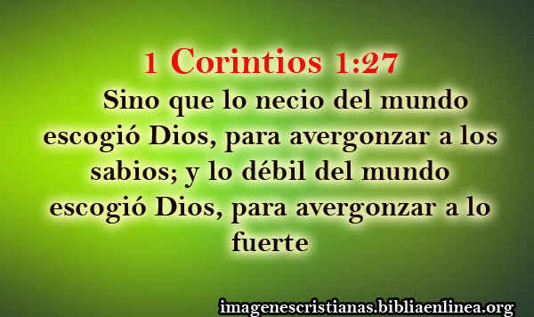 1 Corintios 1-27
