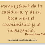 Proverbios.2.6