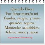 Imagen cristiana con oración para familia y amigos