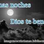 Buenas noches, Dios te bendiga – imagen cristiana para despedirse
