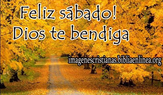 feliz sabado Dios te bendiga
