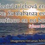 Imagen cristiana para compartir el Lunes Salmos 34:1