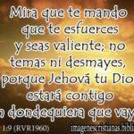 Imagen cristiana con Josue 1:9  gratis para compartir: Facebook, Twiter, Gplus
