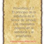 Imagen con proverbios 1:7  para descargar