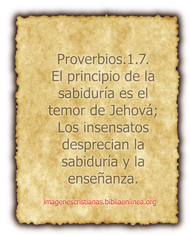 proverbios 1.7