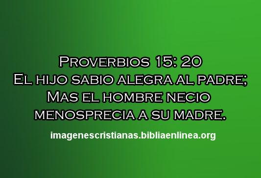 proverbios 15.20