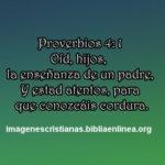 Imagen para el muro de Facebook con proverbios 4:1