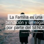 La familia es una bendición de Dios, imagen para publicar en el muro de facebook