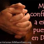 Mi confianza esta puesta en Dios, imagen para el muro de facebook