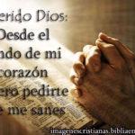 Querido Dios: Desde el fondo de mi corazón quiero pedirte que me sanes