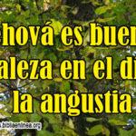 Imagen Cristiana: Jehová es bueno, fortaleza en el día de la angustia