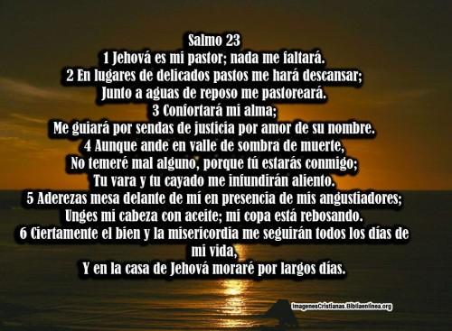 Imagen cristiana con Salmo 23 para descargar
