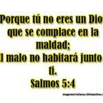 Imagen de Salmos: Dios no se complace en la maldad