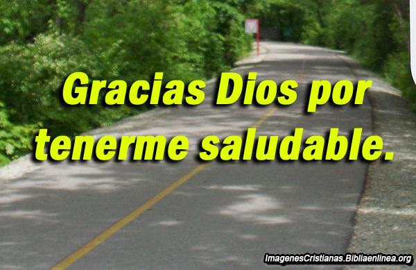Gracias Dios por la Salud imagen cristiana