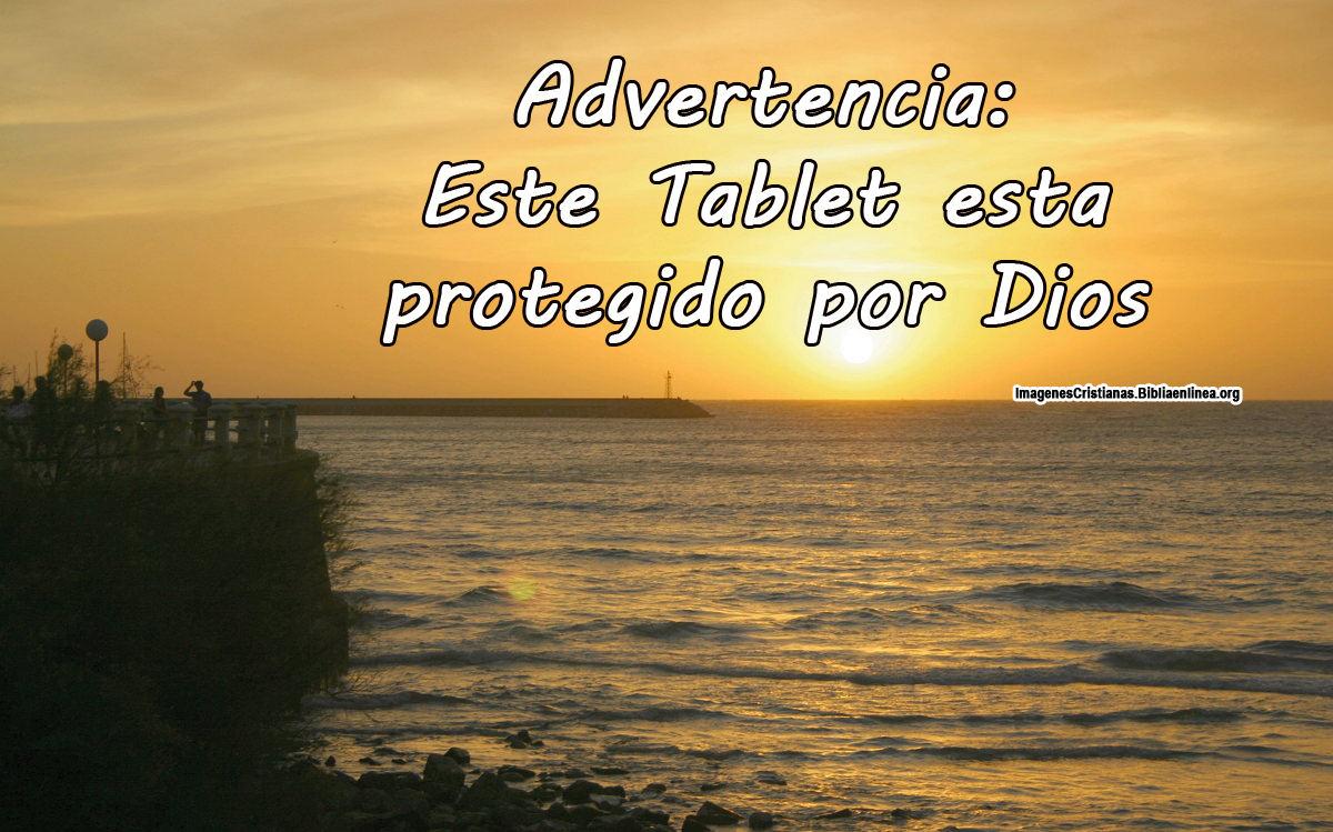 Imagen para Tablet con Frase Cristiana