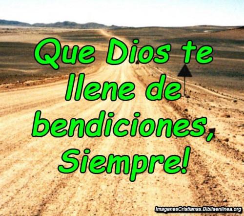 Dios te lleve de bendiciones