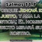 Salmos 11.7. Porque Jehová es justo