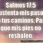 Imágenes Cristianas de Salmos 17.5 Sustenta mis pasos en tus caminos