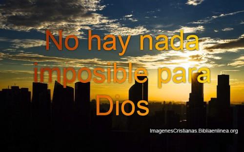 No hay Nada Imposible para Dios reflexion