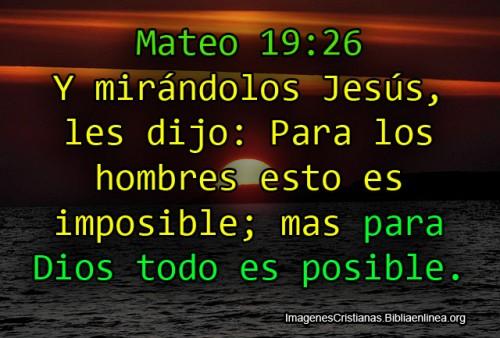Para Dios todo es Posible