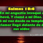 Salmos .18.6. En mi angustia invoqué a Jehová