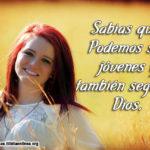 Imagen con mensaje de jóvenes seguir a Dios