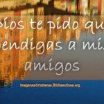 Imágenes Cristianas Dios te pido que bendigas a mis amigos siempre