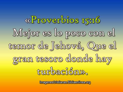 Mejor es lo poco con temor a Jehova