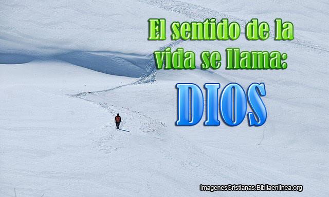 Dios le da sentido a la vida
