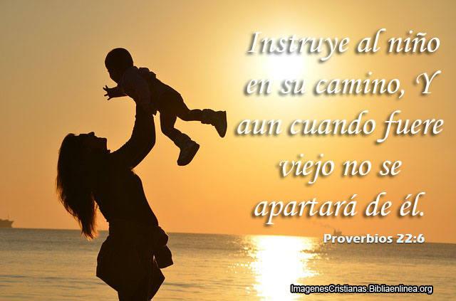 Instruye al niño en su camino proverbios