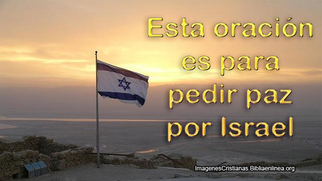 Pedir paz en israel