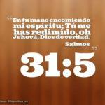 Salmos 31:5 En tu mano encomiendo mi espíritu;