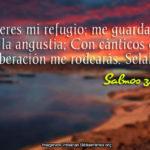 Salmos 32:7 Tú eres mi refugio; me guardarás de la angustia
