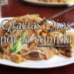 Imágenes Cristinas de Gracias Dios por la comida