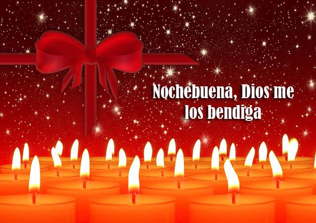 Dios me los bendiga Nochebuena