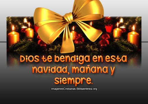 Dios te bendiga en esta Navidad