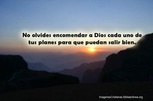 Encomendar a Dios los planes