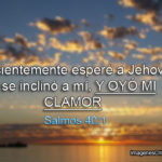 Salmos 40:1 Pacientemente esperé a Jehová