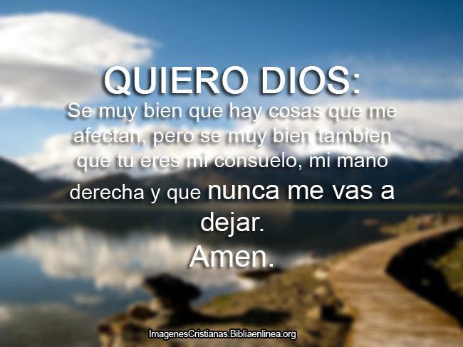 Oracion de querido Dios