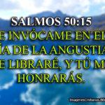 Salmos 50:15 E invócame en el día de la angustia; Te libraré