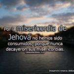 Imagenes Cristianas: Por la misericordia de Jehová no hemos sido consumidos