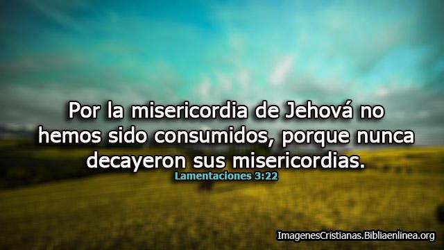 Por la misericordia de Jehová no hemos sido consumidos Imagenes