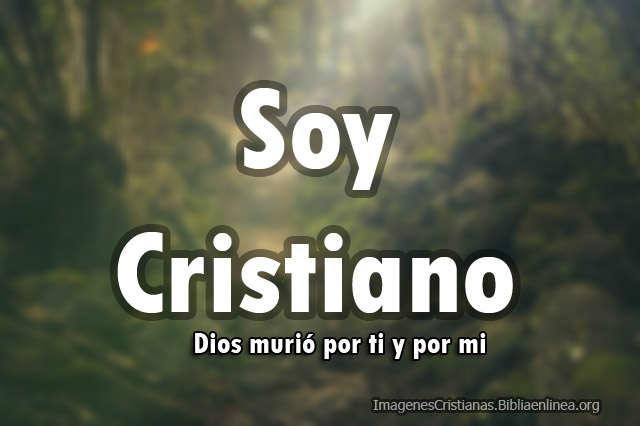 Imagen dice soy cristiano