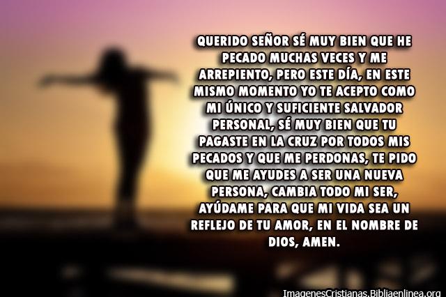 Oración para aceptar a Jesucristo como tu Salvador