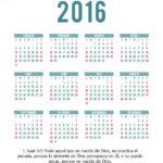 Calendario Cristiano 2016 mes a mes y completo