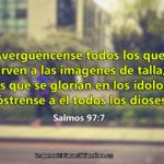 Imagenes cristianas en contra de la idolatría