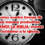 Imágenes Cristianas con Reflexiones del tiempo