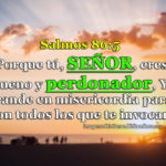 Salmos 86:5 Porque tú, Señor, eres bueno y perdonador