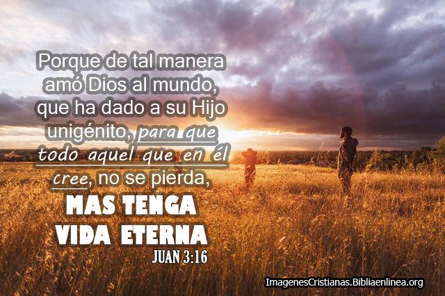 Imagen Porque de tal manera amó Dios al mundo