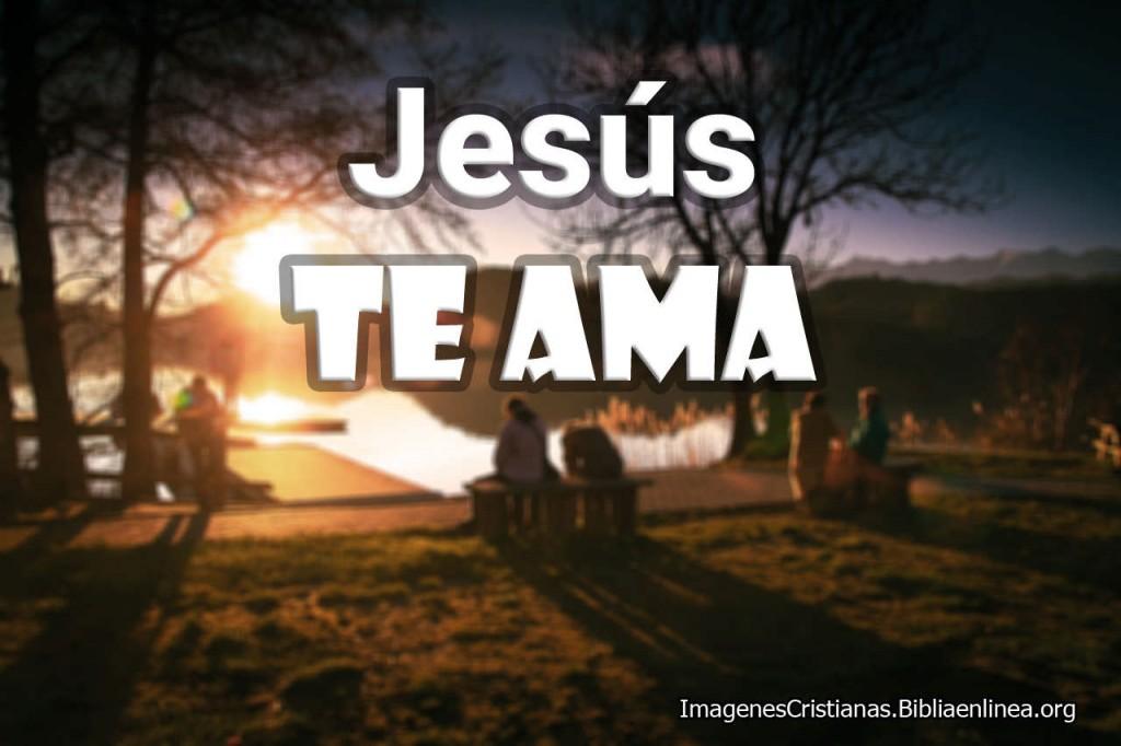 Jesus te Ama Imagen Cristiana